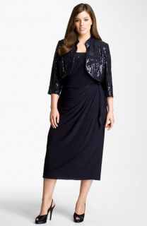 Alex Evenings Gathered Dress & Jacket (Plus)