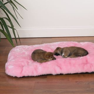 Faux Fur Cloud Cushion Dog Cat Mat Bed All Sizes Pink