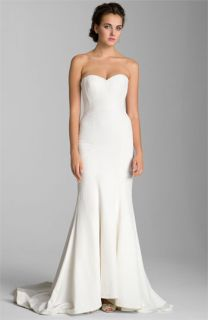 Nicole Miller Faille Trumpet Gown
