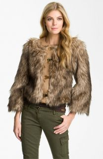 MICHAEL Michael Kors Faux Coyote Fur Jacket