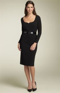 Anne Klein Dress Belted Crepe Dress
