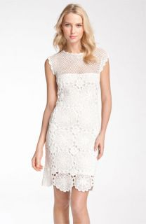 Trina Turk Sleeveless Crochet Cotton Dress
