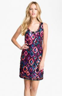 Trina Turk Sequin Diamond Shift Dress
