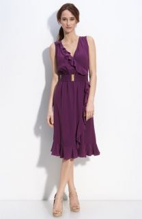 Rebecca Taylor Sleeveless Silk Faux Wrap Dress