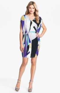 Suzi Chin for Maggy Boutique Dolman Sleeve Print Silk Dress