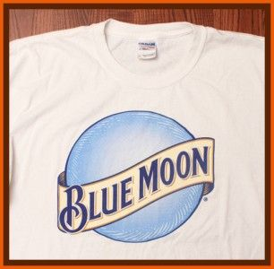 Deliv Blue Moon Coors Beer Brewing Compay Logo White XL T Shirt
