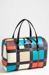 kate spade new york perry street plaid   shawna satchel
