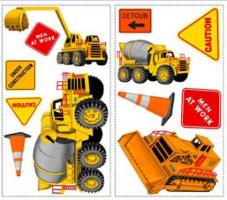 big 23 construction boys wall stickers trucks decals free economy