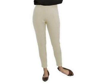 Isaac Mizrahi Live Essentials Stretch Ponte Ankle Pants   A98123
