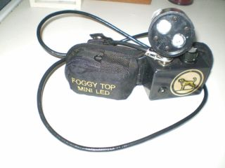 Foggy Top Mini Led 21 Volt Belt Coon Hunting Light VERY BRIGHT