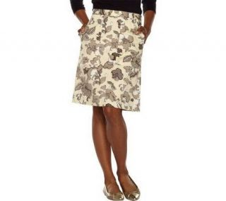 Isaac Mizrahi Live A line Skirt with Front Pockets —