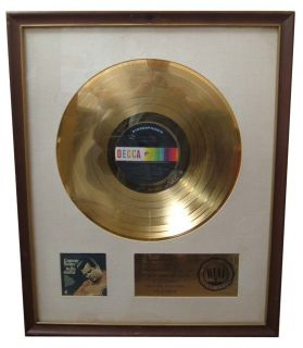 Conway Twitty First RIAA Gold Record Award for Hello Darlin
