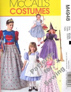 Pattern Sewing McCalls Girl Fairy Dorthy Princess Dress Costume Sz 3 8