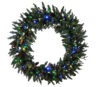 Bethlehem Lights Solutions 48 Wreath with Pinecones&Timer   H192772