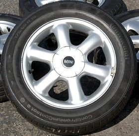 Mini Cooper 15 Inch OEM Wheels Continental Tires