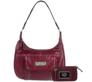 Liz Claiborne New York Top Zip Patent Hobo Bag w/Cosmetic Case