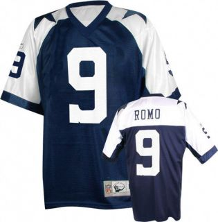 Dallas Cowboys Tony Romo 9 Throwback Football Jersey