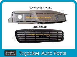 98 10 Ford Crown Victoria Header Panel Headlight 5pcs