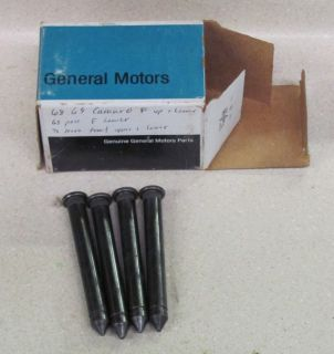 You are bidding on an NOS set of (4) Door Hinge Pins for 1968 69