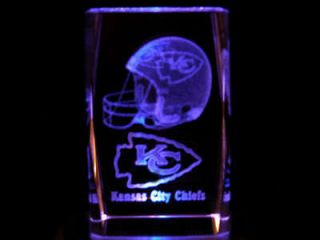 3D Laser Crystal NFL Kansas City Chiefs Football New