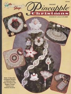 Crochet Pineapple Christmas Ornaments Tree Skirt 12 Patterns 1997