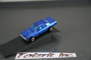 Redline Hot Wheels Custom Cougar in Blue HK with BLUE interior