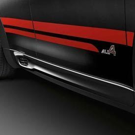 Mini Cooper Countryman JCW Red Side Door Stripes Set Left Right Decal