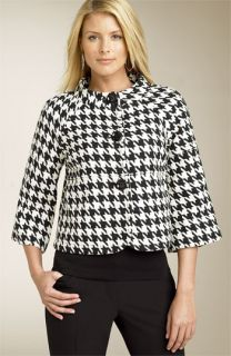 MICHAEL Michael Kors Houndstooth Swing Jacket (Plus)