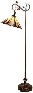 Floor Lamp Antique Golden Sand Dale Tiffany 1 Light Tiffany Ha DY 248
