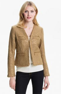 MICHAEL Michael Kors Frayed Edge Jacket (Petite)