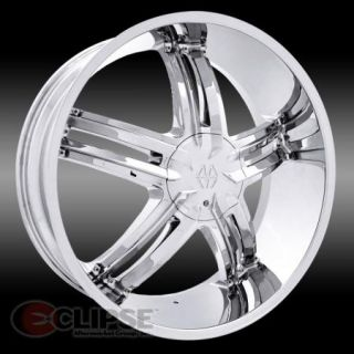 22x8 5 Chrome Massiv 914 Cyclone Wheel Rims 5 Lug Front Wheel Drive