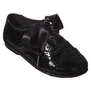 Toddler Girls Genuine Kids OshKosh Dagan Oxford Black Patent Dress