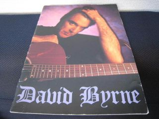 David Byrne 1992 Japan Tour Book Concert Program Talking Heads