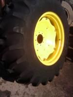 Two 16 9x28 16 9 28 Deere Ford Farm Tractor Tires w Rims