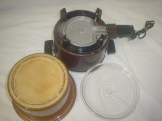 Vtg Dazey Chefs 4 Quart Pot Slow Cooker Deep Fryer Crock Pot DCP 6
