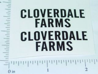 Marx Cloverdale Farms Panel Van Sticker Set MX 053