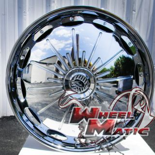 New Davin Dub Spinners Surge 28 5x120 5x127 Chrome Rims Wheels Impala