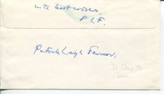 Sir Patrick Leigh Fermor WWII War Crete Resistance & Author Signed