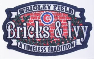 Chicago Cubs MLB Baseball Wrigley Field Bricks Ivy Commemorate Patch