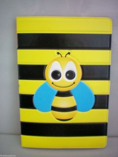 Black Yellow Bee Design Travel Passport Holder Cover Case Free