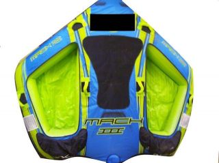 Expreme Sports Mach III Three Person Towable Blue Green