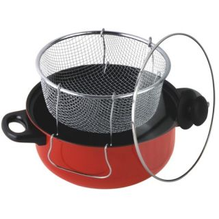 Gourmet Chef 4 5 Quart Non Stick Deep Fryer with Frying Basket and
