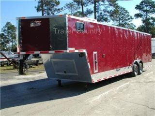 New 8 5 x 32 8 5x32 V Nose Enclosed Gooseneck Trailer