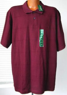 David Taylor Collection Mens Burgundy Cotton Golf Polo Shirt Size XL