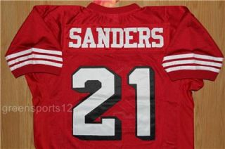 Deion Sanders #21 San Francisco 49ers THROWBACK JERSEY SIZE 2XL