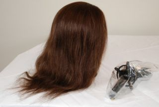Debra 21 Cosmetology Mannequin Head 100% human hair w/ FREE clamp by