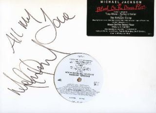 Michael Jackson Signed Blood on Dance Floor Vinyl Proof