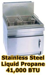 Commercial Propane Countertop Deep Fryer 22 Deep 2 Basket 41 000 BTU