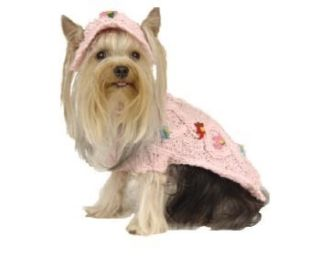 Maxs Closet Pet Dog Clothing Designer Dog Sweater Pink Yorkie Poodle