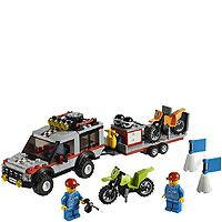 Lego City 4433 Dirt Bike Transporter Set 2 Mini Figures 201 Pcs Age 5